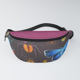 Entomology (Black) Fanny Pack