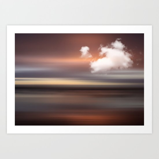 D-MOTION - Surreal abstract landscape Art Print