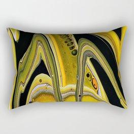 Transverse acrylic pour art Rectangular Pillow