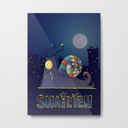 Snailien Metal Print