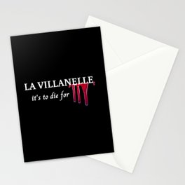 Killing Eve and Villanelle quote Stationery Cards