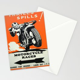 Vintage poster - Motorcycle Races Stationery Cards
