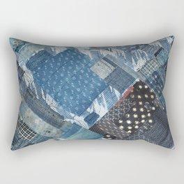 Antique Japanese boro jeans patchwork Rectangular Pillow