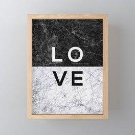 Love B&W Framed Mini Art Print