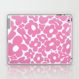 60s 70s Hippy Flowers Pink Laptop & iPad Skin