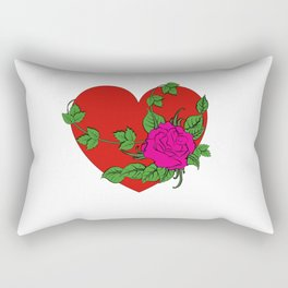 Heart & Rose Rectangular Pillow