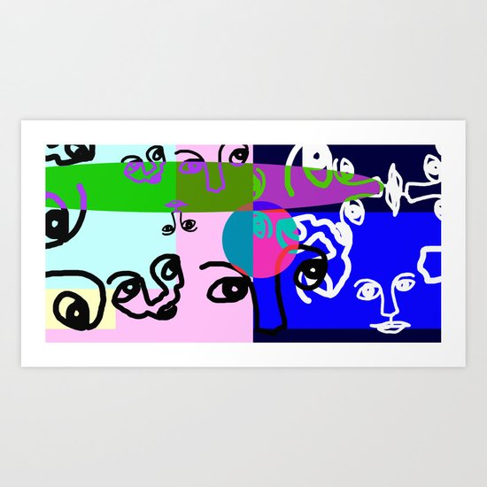 COLOURLESS Art Print