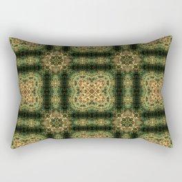 Indian Inspired Earthtone Tilework Rectangular Pillow