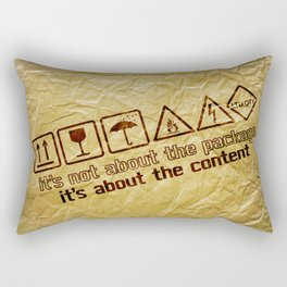 [ it's about the content ] Rectangular Pillow