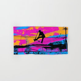 Lets Fly!  - Stunt Scooter Hand & Bath Towel