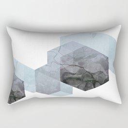 Neutral Marble Geometry Rectangular Pillow