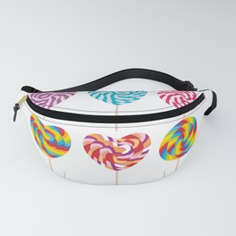 lollipops, colorful spiral candy cane with twisted design Fanny Pack