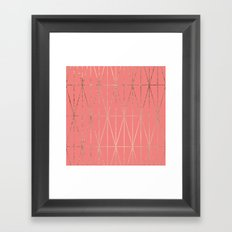 Modern geometric triangles faux rose gold coral pattern Framed Art Print