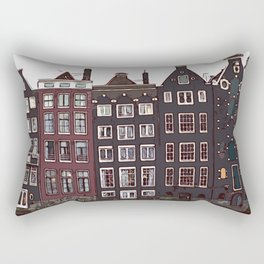 Traditional houses in Amsterdam Rectangular Pillow