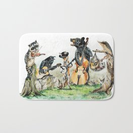 """ Bluegrass Gang "" wild animal music band Bath Mat"