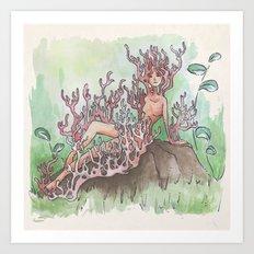 Empire of Mushrooms: Artomyces pyxidatus Art Print