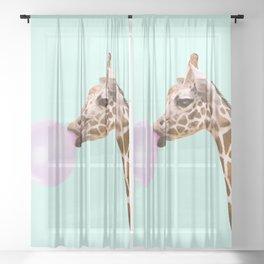GIRAFFE Sheer Curtain