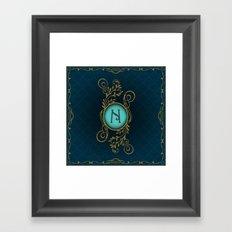 Monogram N Framed Art Print