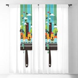 Paint your world Blackout Curtain