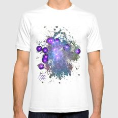 The Zodiac Sign -- Aquarius White Mens Fitted Tee MEDIUM