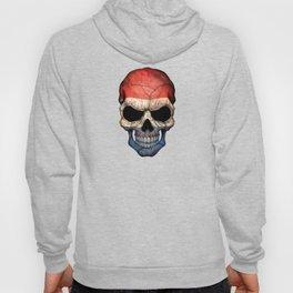 Dark Skull with Flag of The Netherlands Hoody