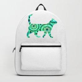 Greeen Sparkle cat Backpack