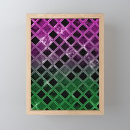 Abstract Geometric Background #7 Framed Mini Art Print