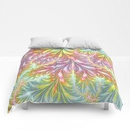 Pastel Fronds Comforters