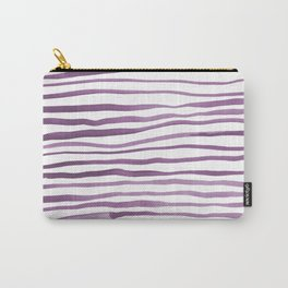Irregular watercolor lines - ultra violet Carry-All Pouch