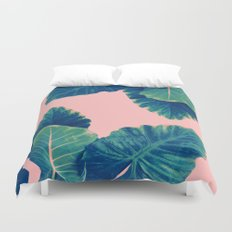 Greenery on Blush Duvet Cover