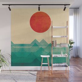 The ocean, the sea, the wave Wall Mural