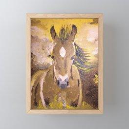 Cute foal. Original painting. Framed Mini Art Print