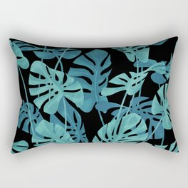 Graphic Monstera leaves. Rectangular Pillow