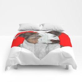 Pit Bull Heart Comforters
