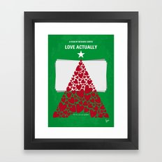 No701 My Love Actually minimal movie poster Framed Art Print