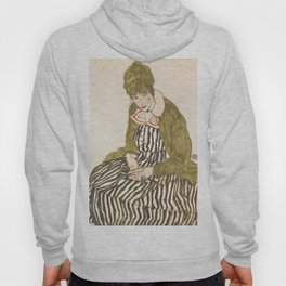 "Egon Schiele ""Edith with Striped Dress, Sitting"" Hoody"