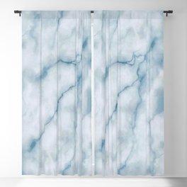 Light blue marble texture Blackout Curtain