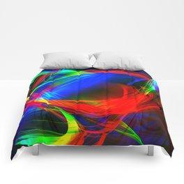 Colorful smoke Comforters
