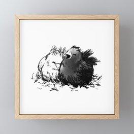 Chocobo Black Chick Framed Mini Art Print