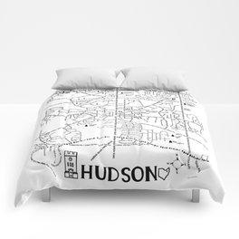 Hudson Ohio Map Comforters
