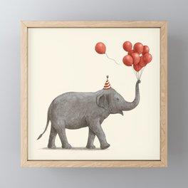 Party Elephant Framed Mini Art Print