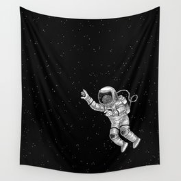 Astronaut in the outer space Wall Tapestry