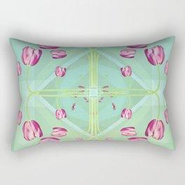 Tulips in green shades Rectangular Pillow