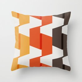 70s Paper Folds Large Throw Pillow