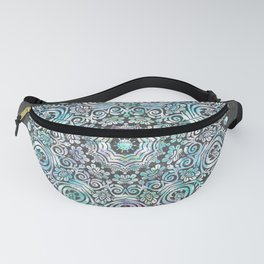 Mermaid Mandala on Deep Gray Fanny Pack