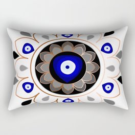 Copper Evil Eye Mandala Rectangular Pillow