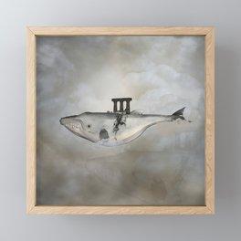 Awesome whale Framed Mini Art Print
