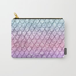 Mermaid Scales on Unicorn Girls Glitter #4 #shiny #pastel #decor #art #society6 Carry-All Pouch