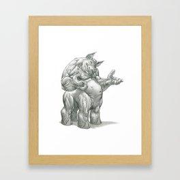The Splithoof Centaurhog Framed Art Print