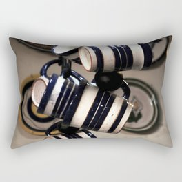 line of ceramic cups Rectangular Pillow